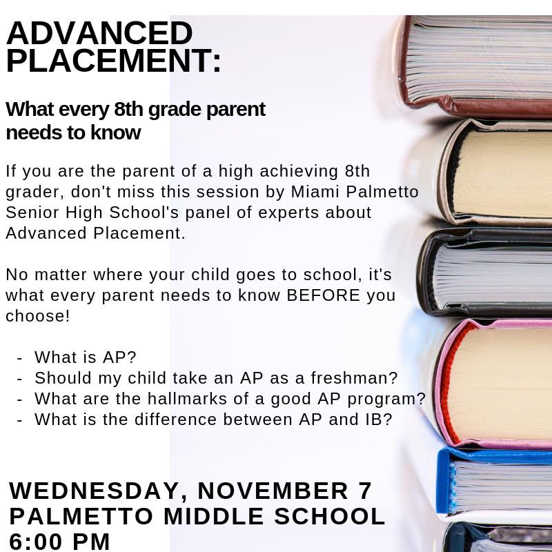 Advanced Placement info for 8th Graders
