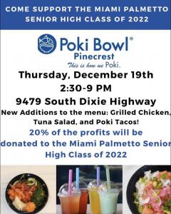 Poki Bowl Fundraiser for c/o 2022 @ Poki Bowl - Pinecrest | Pinecrest | Florida | United States
