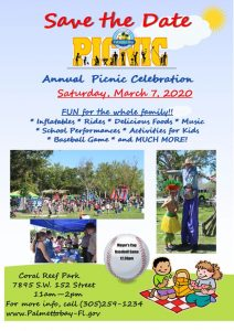Annual Picnic Celebration @ Coral Reef Park | Palmetto Bay | Florida | United States