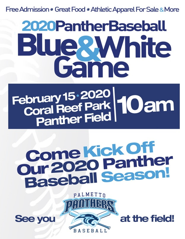 Blue and White Game Flyer