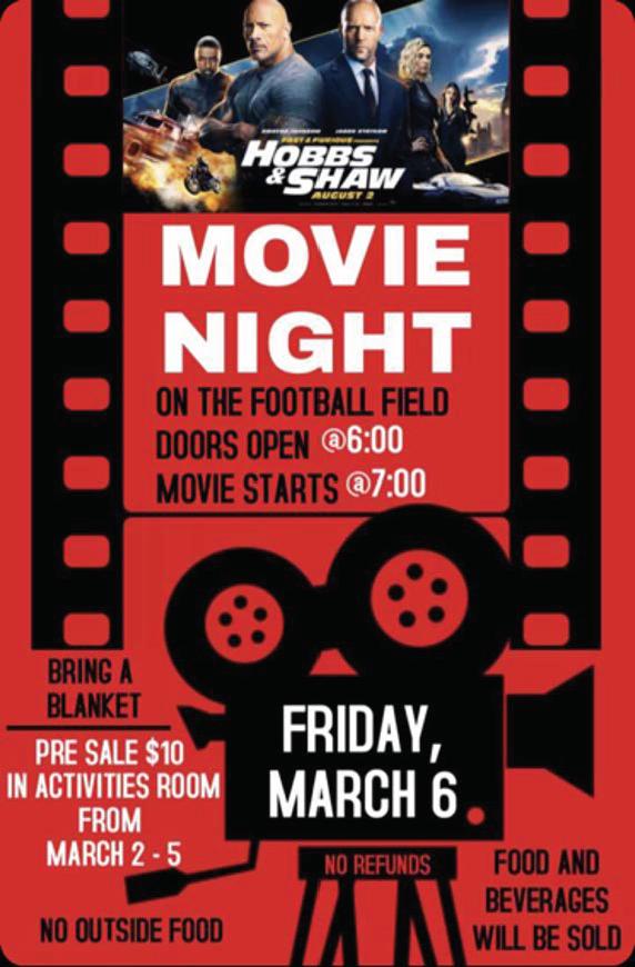 Palmetto Movie Night Flyer