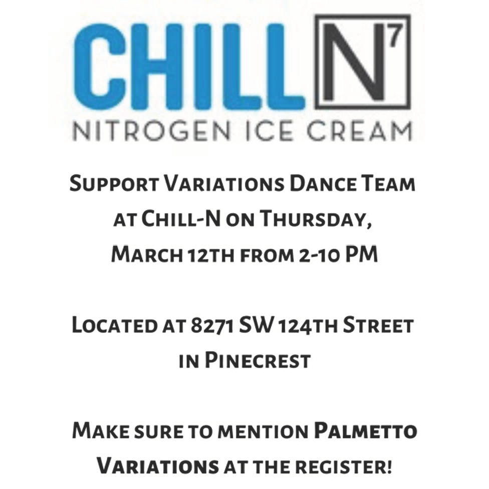 Variations ChillN Fundraiser Flyer