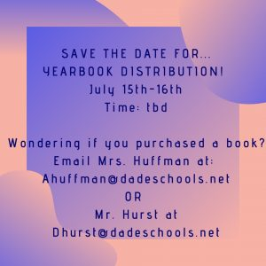 Yearbook Distribution - TBA