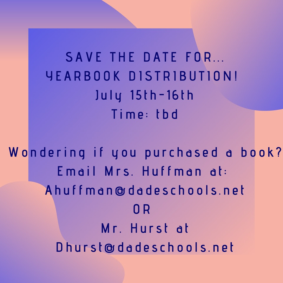 yearbook distribution flyer