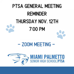 PTSA General Membership Meeting @ ZOOM