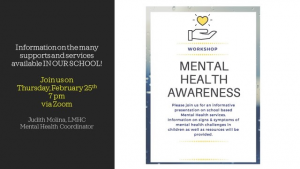 Mental Health Awareness Talk @ ZOOM