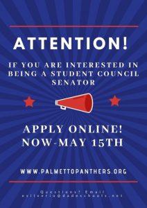 Student Council Senate Applications Due